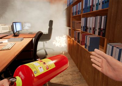 VR fire safety training